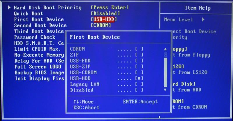 Check USB settings in BIOS