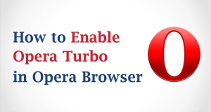 How to enable or disable Opera Turbo