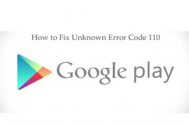 How to fix error 110 in the Google Play app during installation?