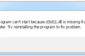 How to download d3d11.dll and fix D3D11 error when you start the game?