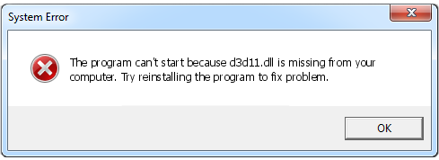 How to download d3d11 dll and fix D3D11 error when you start the game?