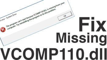 vcomp110.dll is missing from your computer