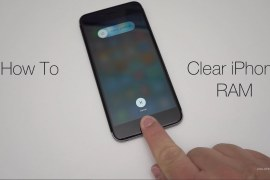 How do you clear the RAM on an iPhone or iPad?