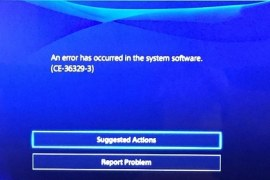 How to fix PS4 CE-36329-3 error?