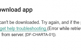 How to fix [DF-CHARTA-01] error in Google Play?