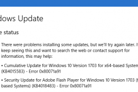 How to fix Windows Update 0x80071A91 error?