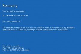 How to fix Windows 10 0xc0000225 error?