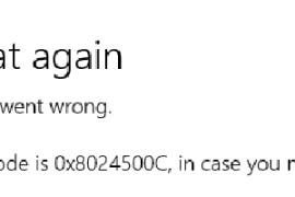 How to fix Windows Store0x8024500C error?