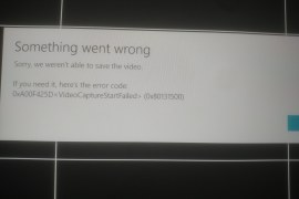 How to fix 0xA00F425D (0x80131500) VideoCaptureStartFailed error?