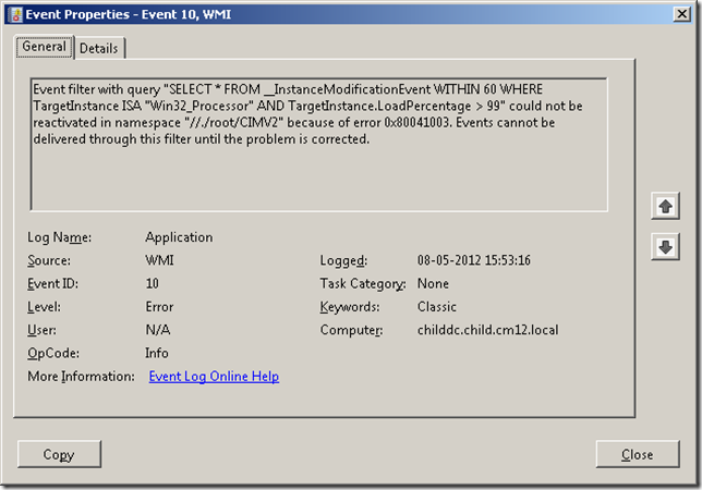 How to fix Windows 7 error 0x80041003?