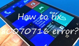 Windows Phone 80070716 error: how to fix