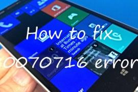 Windows Phone 80070716 error: how to fix