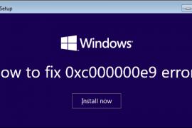 How to fix 0хс000000е9 error?