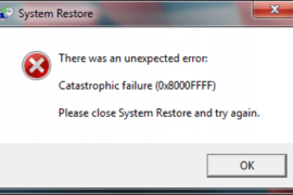 How to fix 0x8000ffff error?