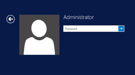 Admin password when logging in to Windows 10